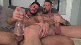 rocco steele and mike demarko jerk off together