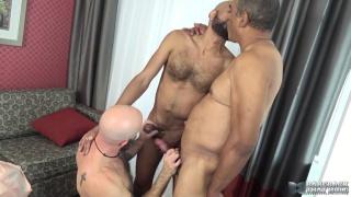 bald cocksucker services two men