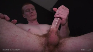 ginger strokes his monster cock