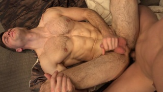 ripped stud gets his first ass fucking