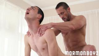 hung mormon guys takes a big dick up his ass