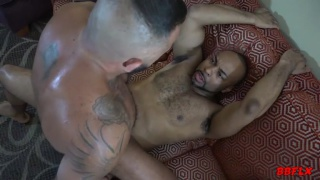 hairy hunk seeking BBC and gets it