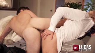 guys gets fucked backwards by 10-inch cock