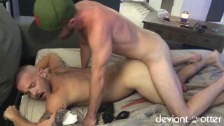 furry cub in baseball cap pounds a beautiful ass