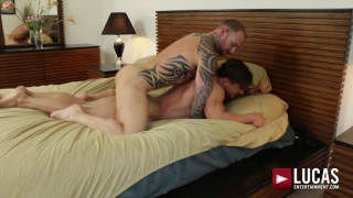 tattooed muscle hunk and russian stud flip-fucking