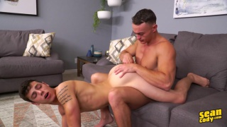 two guys packing huge thick cocks can't wait to fuck