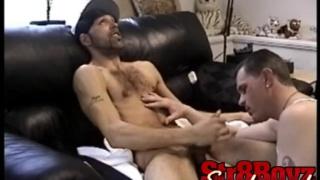 Straight guy tries gay blowjob