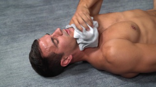jock smells his underwear while beating off
