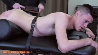 very cute college guy gets spanked