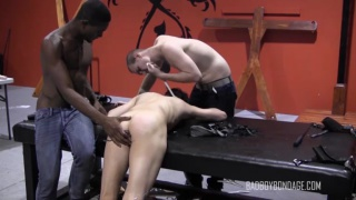 black and white master work over their slave boy