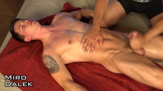 euro hunk Miro Dalek gets serviced on massage table