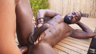 beautiful hung black man gets fucked outdoors