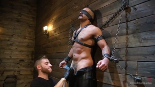 muscle hunk's first dungeon scene