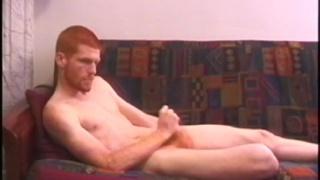 slender ginger stud pounding his cock