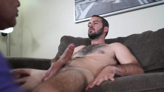 worshiping a sexy married man's big dick