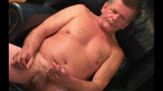 42-year-old plumber jerks his cock in first video
