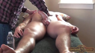 straight guy with chiseled body gets handjob
