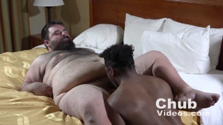 black top buried in chub's crotch