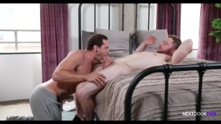 two horny guys fuck after their gym workout