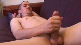 guys rubs out a ten-day cum load
