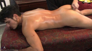 lorenzo naked on the massage table