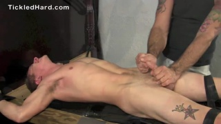 straight guy Warren Tickled and Milked