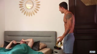 guy gets frustrated with roommates alarm clock