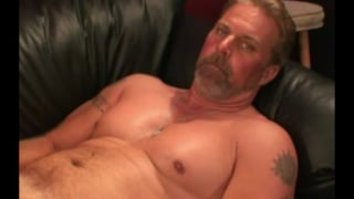 redneck daddy strokes his dick