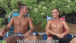 real-life brothers play naked frisbee