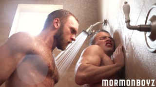 young mormon gets fucked in the shower