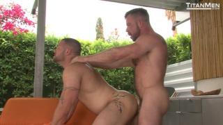 muscle hunk's shower stroke interrupted by handyman