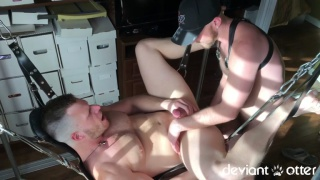 brian bonds gets fucked in a sling by deviant otter