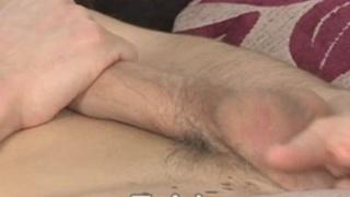 Cute young jock masturbates