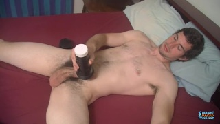 guy with furry pubes fleshjacks his cock