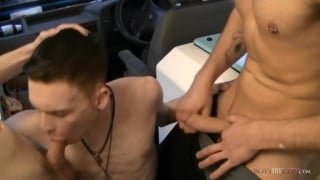 ice-cream man plays with two horny twinks