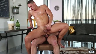 boys play a game to see who is going to bottom