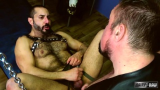 Jack Hardy and Amir Badri fuck on a sling