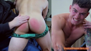 22-year-old straight boy gets his ass spanked