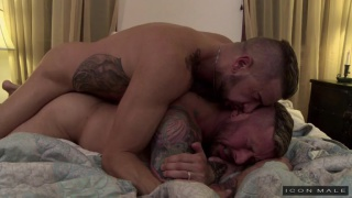 real-life couple Dolf Dietrich and Hugh Hunter fuck again