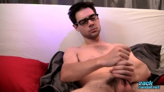 zack randall uses both hands to jack off