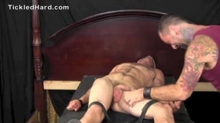 guy gets his cock milked after tickling session