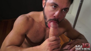 top daddy fucks bottom with his 10x7 cock