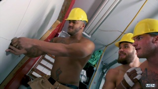 five construction hunks fucking on the job