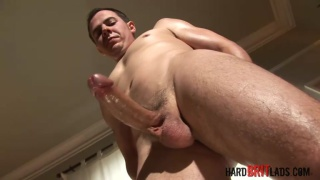 british guy strokes his massive uncut boner