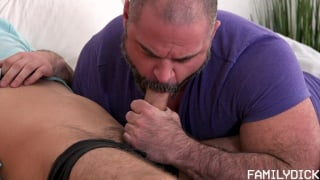 muscular stepfather teaches stepson how to jerk off and then ...