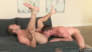 handsome jock takes a massive dick up his ass