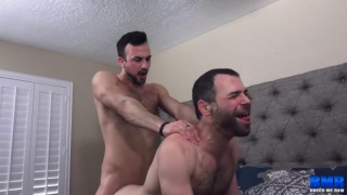 guy wants to call it an early night but his boyfriend has other ideas