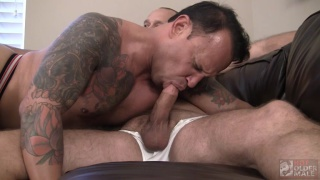 bottom is hungry for daddy cock and he gets it
