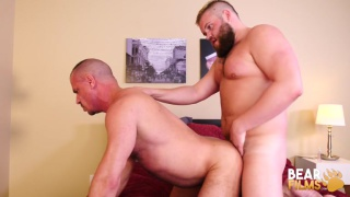 bear couple invites us into their bedroom to watch them fuck