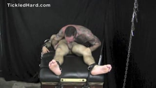 straight guy gets his small bare feet tickled